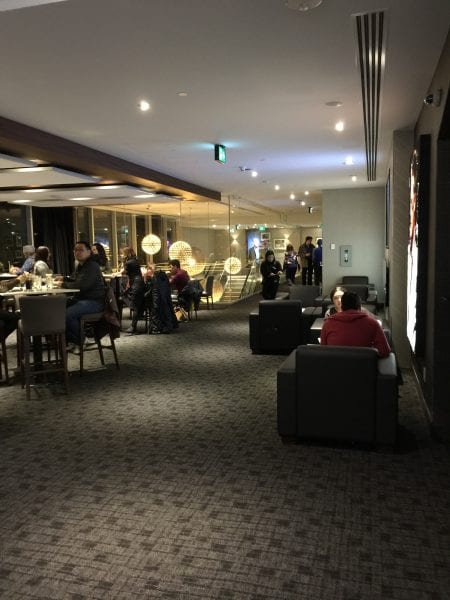 Inside the VIP theatre