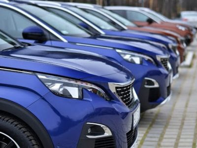 Sierpc, Poland - November 15th, 2016: Peugeot 3008 stopped on the parking before the presentation. The 3008 is one of the most popular SUV/crossover vehicles in Europe.