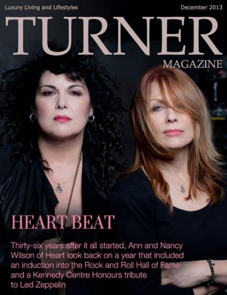 Ann and Nancy Wilson of Heart - Turner Magazine December 2013