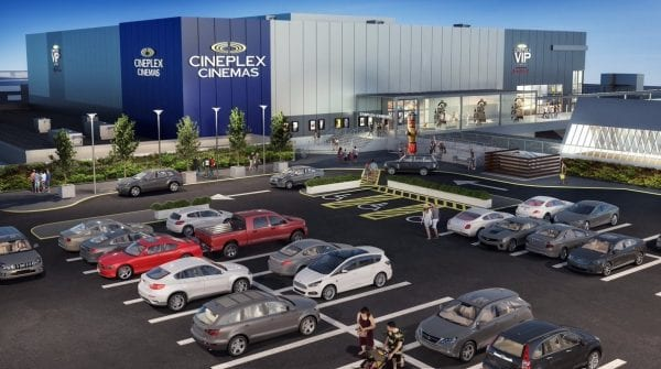 Artists rendering of new movie theatre