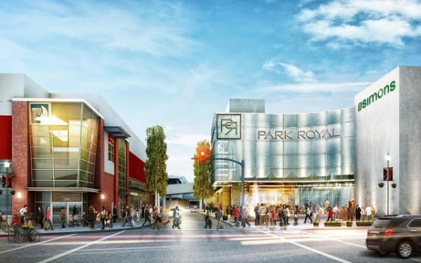 Simons new 100,000 sq ft Luxury Store at Park Royal Shopping Centre West Vancouver